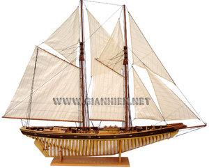 maquette de bateau, voilier, runabout Bluenose II coque membrures - 80 cm Gia Nhien Quirao idées cadeaux
