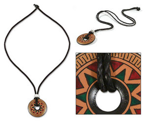 Inca Inventions http://www.quirao.com/en/p/jewels/ethnic-jewels/26502/ceramic-necklace-inca-sun-93948.htm