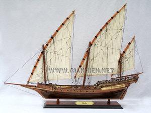 maquette de bateau, voilier, runabout Chebec - 57 cm Gia Nhien Quirao idées cadeaux