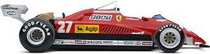 miniature de voiture Ferrari 126 C2, Grand Prix of San Marino, #27 Exoto Quirao idées cadeaux