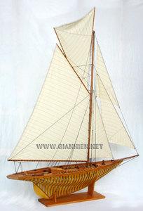 maquette de bateau, voilier, runabout William Fife coque membrures - 80 cm Gia Nhien Quirao idées cadeaux