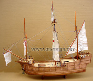 maquette de bateau, voilier, runabout Santa Maria Nao - coque 60 cm Gia Nhien Quirao idées cadeaux