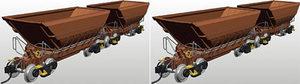 train miniature Set de 4 wagons minerai LKAB (Roco 66670) Roco Quirao idées cadeaux