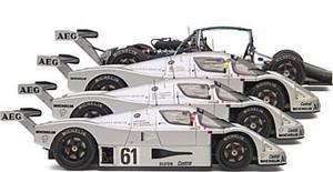 miniature de voiture Sauber Mercedes C9  set of 4  Le Mans 1989 (Exoto 19199S) Exoto Quirao idées cadeaux
