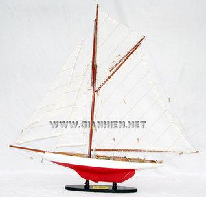 maquette de bateau, voilier, runabout Vigilant - 80 cm Gia Nhien Quirao idées cadeaux