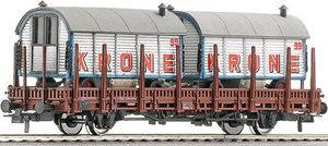 train miniature Wagon plat  Krone  DB (Roco 66676) Roco Quirao idées cadeaux