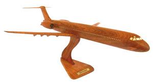 maquette d'avion MD 80 - 40 cm Replicart-Wood Quirao idées cadeaux