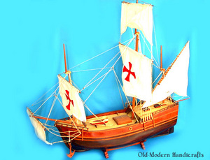 maquette de bateau, voilier, runabout Pinta 60 cm Old Modern Handicrafts Quirao idées cadeaux