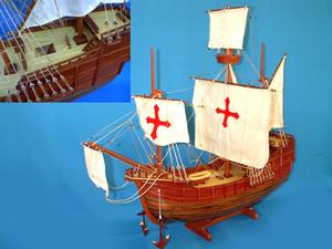 maquette de bateau, voilier, runabout Santa Maria 80 cm Old Modern Handicrafts Quirao idées cadeaux
