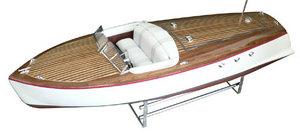 maquette de bateau, voilier, runabout Bel Azur 70 - marron  Quirao idées cadeaux