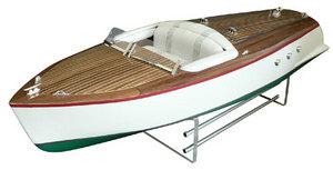 maquette de bateau, voilier, runabout Bel Azur 70 - vert  Quirao idées cadeaux