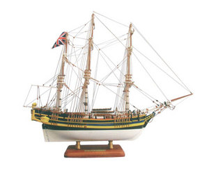 maquette de bateau, voilier, runabout H.M.S Bounty peint - 72 cm  Quirao idées cadeaux