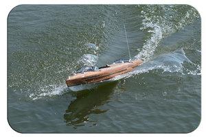 maquette de bateau, voilier, runabout Torpedo 100 - coque jaune  Quirao idées cadeaux
