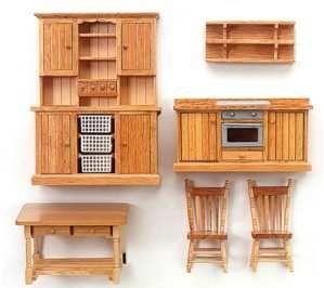 Meuble maison de poup e cuisine compl te 10890 artesania - Meuble de cuisine fait maison ...