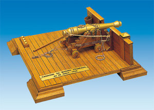 cannon and weapon French Cannon 36lb Mantua