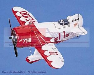 Aircraft wood display model acrobatie single-engine Gee Bee