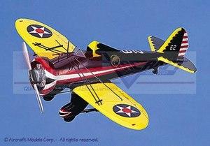 maquette d'avion Boeing P-26 Bucking Mule Aircraft Models Quirao idées cadeaux