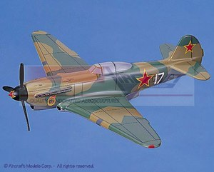 maquette d'avion Yakovlev Yak-9 Aircraft Models Quirao idées cadeaux