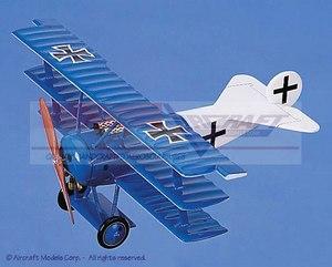 maquette d'avion Fokker Dr1 Blue-White Aircraft Models Quirao idées cadeaux