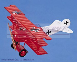 maquette d'avion Fokker Dr1 Red-Blue Aircraft Models Quirao idées cadeaux