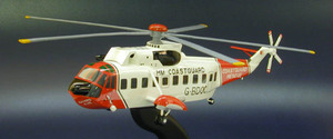 maquette d'helicoptère Sikorsky SH-3 Sea King (Royal Coast Guard) Aircraft Models Quirao idées cadeaux