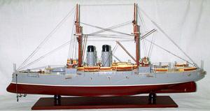maquette de bateau, voilier, runabout Mikasa peint - 100 cm Old Modern Handicrafts Quirao idées cadeaux