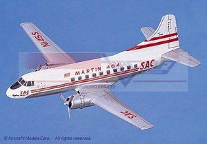 maquette d'avion Martin 404 SAC Aircraft Models Quirao idées cadeaux
