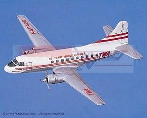 maquette d'avion Martin 404 Transworld Airlines Aircraft Models Quirao idées cadeaux