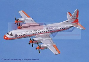 maquette d'avion Lockheed L-188 Electra American Airlines Aircraft Models Quirao idées cadeaux