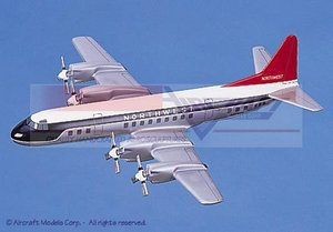 maquette d'avion Lockheed L-188 Electra Northwest Airlines Aircraft Models Quirao idées cadeaux