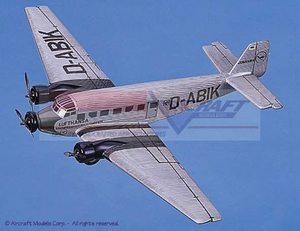 maquette d'avion Junkers JU 52 Lufthansa Airlines Aircraft Models Quirao idées cadeaux