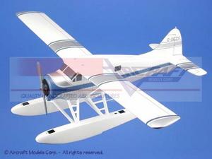 maquette d'avion De Havilland Canada DHC-2 Beaver White  Blue-Silver Trim Aircraft Models Quirao idées cadeaux