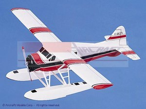 maquette d'avion De Havilland Canada DHC-2 Beaver White  Red-Black Trim Aircraft Models Quirao idées cadeaux