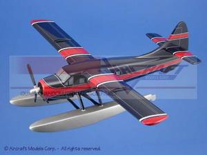 maquette d'avion De Havilland Canada DHC-3 Otter Blue  Red Trim Aircraft Models Quirao idées cadeaux