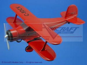 maquette d'avion Beech Model 17 Staggerwing Red  Black Trim Aircraft Models Quirao idées cadeaux