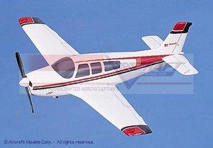 maquette d'avion Beech 36 Bonanza White  Red-Blue Trim Aircraft Models Quirao idées cadeaux