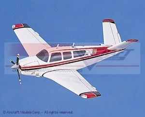 maquette d'avion Beech V-Tailed 35 Bonanza White  Red-Blue Trim Aircraft Models Quirao idées cadeaux