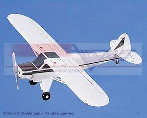 maquette d'avion Piper PA-18A Super Cub White  Maroon Trim Aircraft Models Quirao idées cadeaux