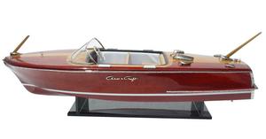 maquette de bateau, voilier, runabout Capri 1956 (Chris-Craft) Azimute Quirao idées cadeaux