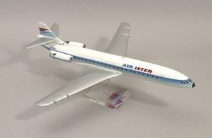 maquette d'avion Caravelle XII-F Air Inter  Quirao idées cadeaux