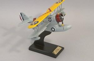 Airplane Painted Wood Model Grumman J2f 2 Duck Essn015w