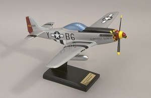 maquette d'avion North American P-51 D Mustang sign. C YAGER  Quirao idées cadeaux