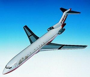 maquette d'avion Boeing 727-200 TWA  Quirao idées cadeaux