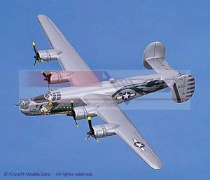 maquette d'avion Consolidated B-24J Liberator Dragon and His Tail Aircraft Models Quirao idées cadeaux