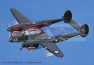 maquette d'avion Lockheed P-38J Lightning  Shark Teeth Aircraft Models Quirao idées cadeaux