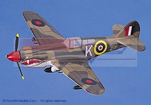 maquette d'avion Curtiss P-40K Tomahawk (RAF) Aircraft Models Quirao idées cadeaux