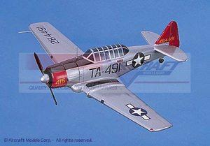 maquette d'avion SNJ Texan AT-6 (Navy) Aircraft Models Quirao idées cadeaux