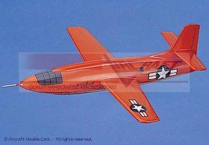 maquette d'avion Bell X-1 Glamour Glennis Aircraft Models Quirao idées cadeaux