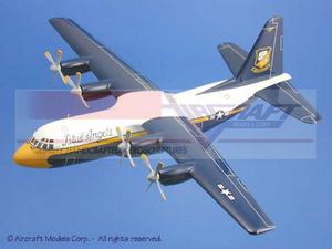 maquette d'avion Lockheed C-130 Hercules Blue Angels Fat Albert Aircraft Models Quirao idées cadeaux