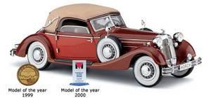 miniature de voiture Horch 853 rouge au 1/24e CMC Modelcars Quirao idées cadeaux